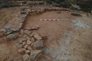 Detalle de una de las estancias excavadas.